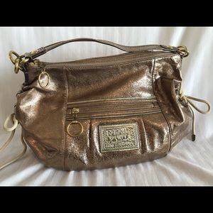 Coach metallic gold Poppy Jazzy hobo purse